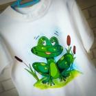 Koszulka z żabką HANDMADE
