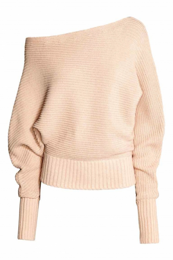 sweter pudrowy nude pudrowobeżowy h&m...