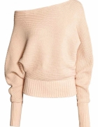 sweter pudrowy nude pudrowobeżowy h&m