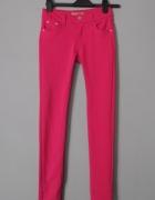 spodnie rurki ciemny róz Miss R J