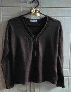 Sweter Kardigan Brązowy zapinany