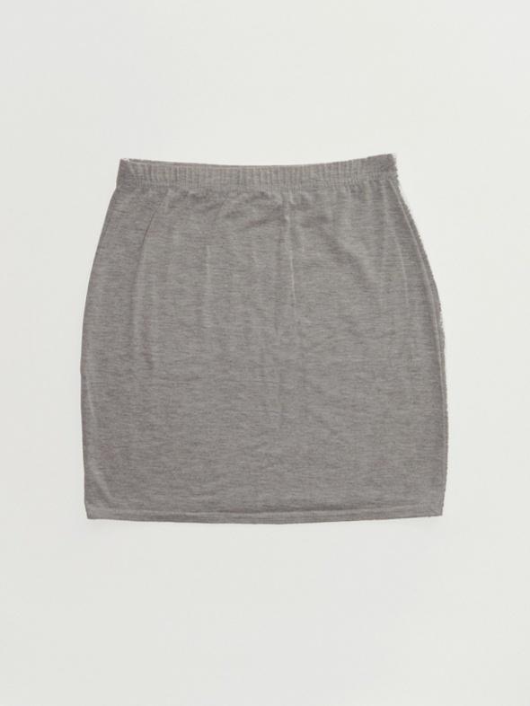 Spódnice szara melanżowa dopasowana spódniczka