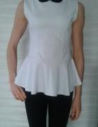 Biała bluzka z baskinką...
