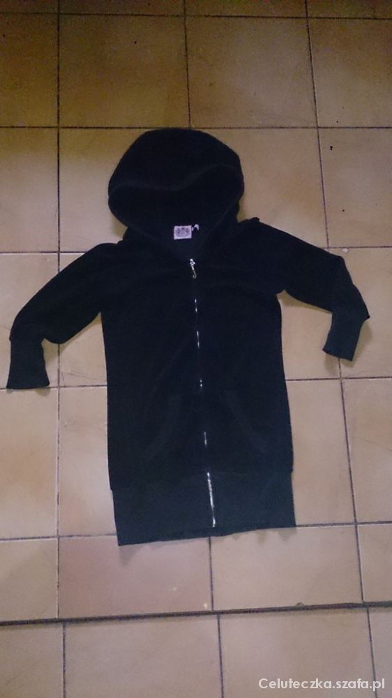 JUICY COUTURE czarna długa bluza S