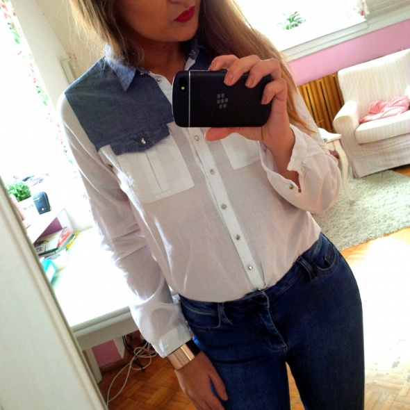 Mój styl Koszula jeans