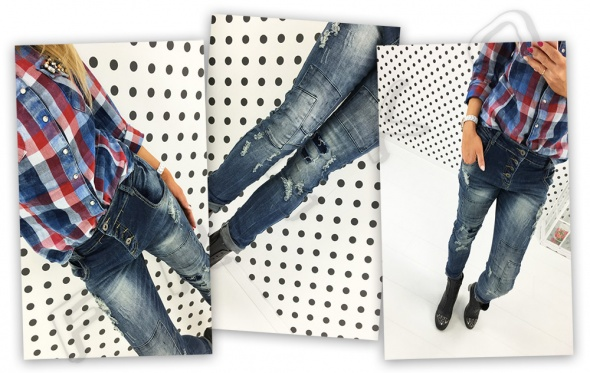 Jeansy przetarcia denim must have 38
