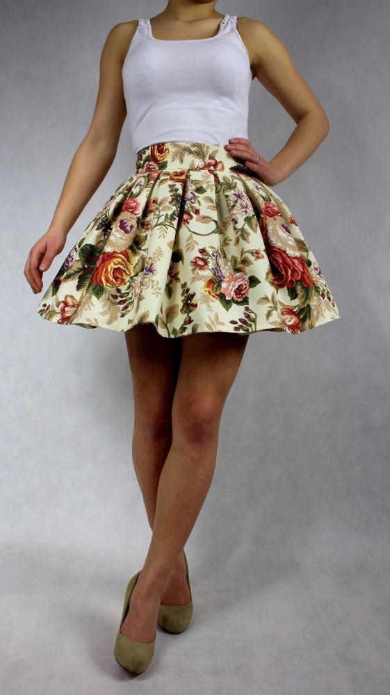 Spódnice Spódniczka sexy rozkloszowana floral