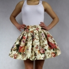 Spódniczka sexy rozkloszowana floral