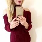 Sweter w kolorze marsala