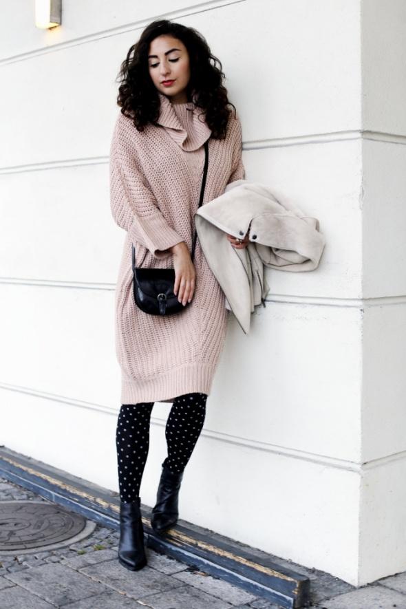 Sukienka sweter luźna