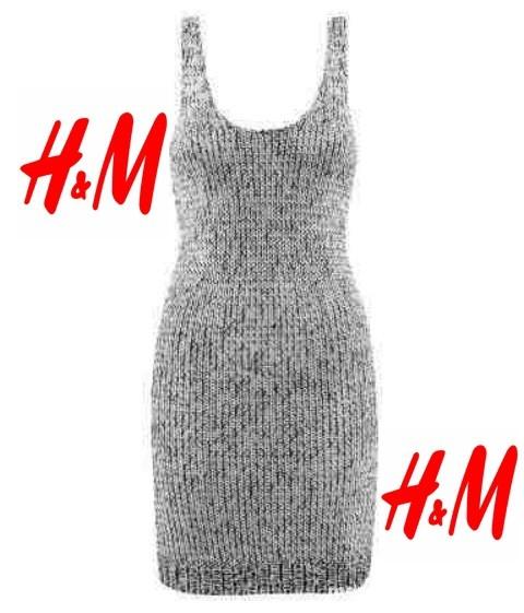 Sukienka h&m srebrna...