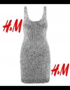 Sukienka h&m srebrna