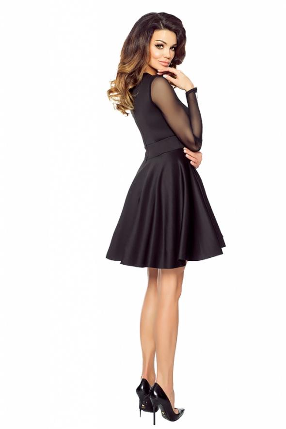 092efceb46 Suknie i sukienki CZARNA SUKIENKA ZE WSTAWKĄ Z SIATECZKI ROZMIAR 42