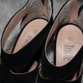 truffle zamszowe czarne sandały słupek 38
