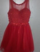 Czerwona sukienka studniówka sylwester wesele...