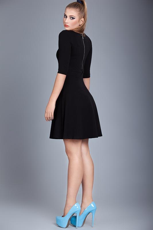 czarna rozkloszowana sukienka SOLAR r 38