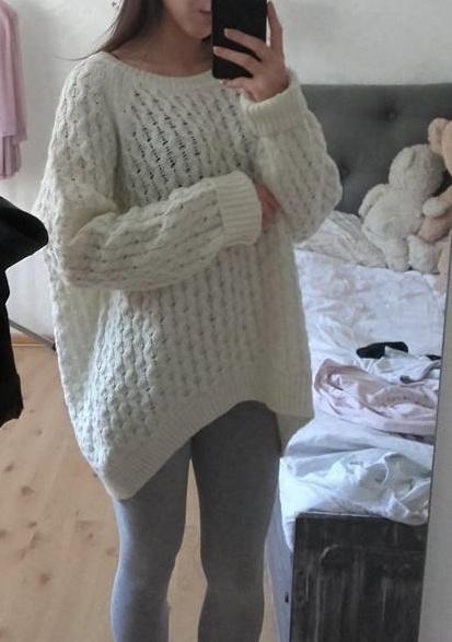 1a073f5063 Biały wełniany sweter M hm w Swetry - Szafa.pl