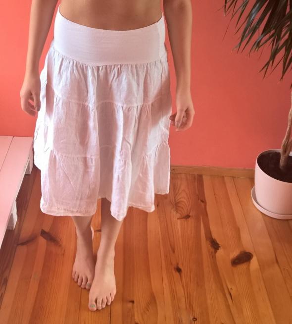 07d2fc78 biała lniana spódnica w Spódnice - Szafa.pl