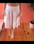 biała lniana spódnica...