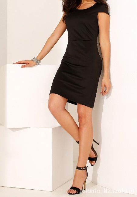 9b6c6099d3 Rozmiar 44 XXL Sukienka pencil czarna ołówkowa w Suknie i sukienki ...