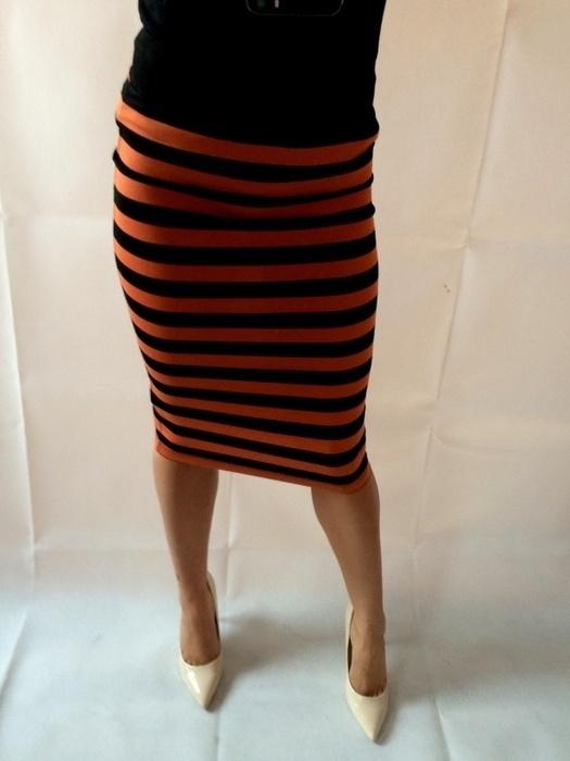 Spódnice spódnica w paski stradivarius