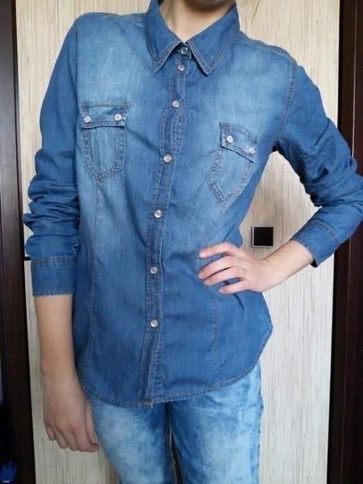 Jeansowa koszula zapinana na zatrzaski colours of