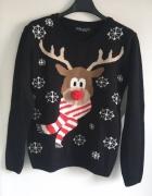 Sweter z reniferem świąteczny Select Renifer 36 S...