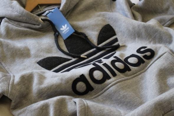 męska szara grubsza bluza adidas L w Bluzy Szafa.pl