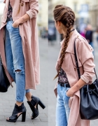 Dusty pink trench