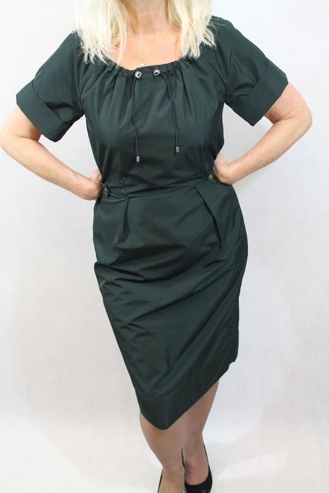92782d6abf23 sukienka w kolorze zieleni butelkowej s m w Suknie i sukienki - Szafa.pl