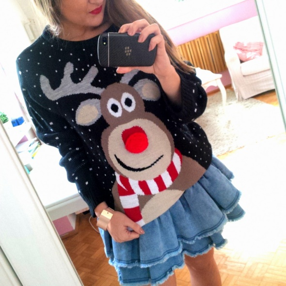 Mój styl Świąteczny sweter