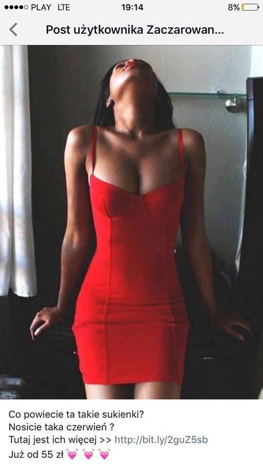 sukienka czerwona...
