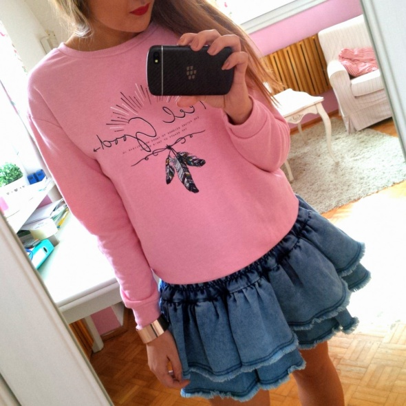 Mój styl Różowa bluza