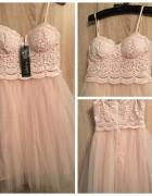 Sukienka LITTLE MISTRESS tiul różowa ASOS XS S...