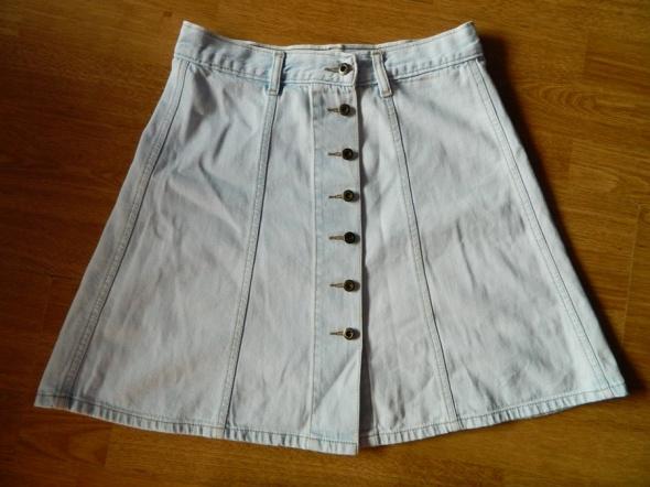 Spódnice GRAWIK jeansowa spódnica na guziki roz 36