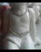 stary srebrny naszyjnik filigran