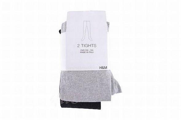 H&M 2pack rajstop czarneszare r164