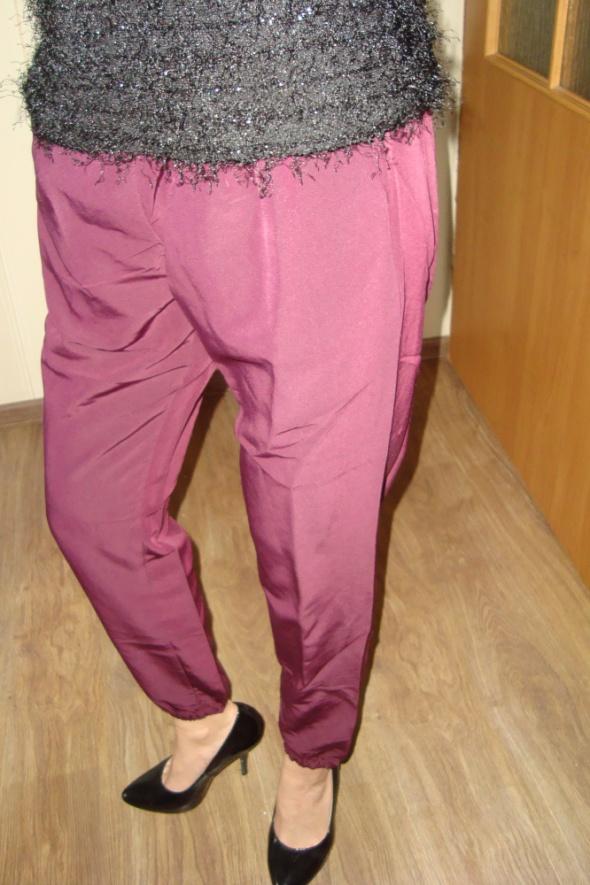 bordowe spodnie calliope