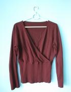 Cienki sweter w kolorze ciemnobordowym