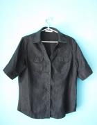 Czarna bluzka z krótkim rękawem