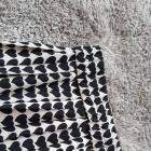 Spódnica Zara plisowana beżowo czarna serduszka M