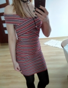 sukienka prązkowana new look...