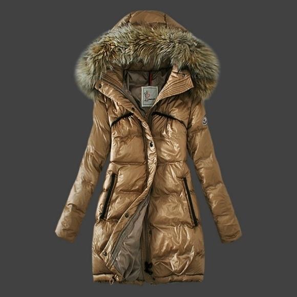 Ubrania Moncler płaszczyk beż rozmiar S