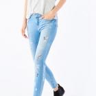 Mohito jeansy z naszywkami