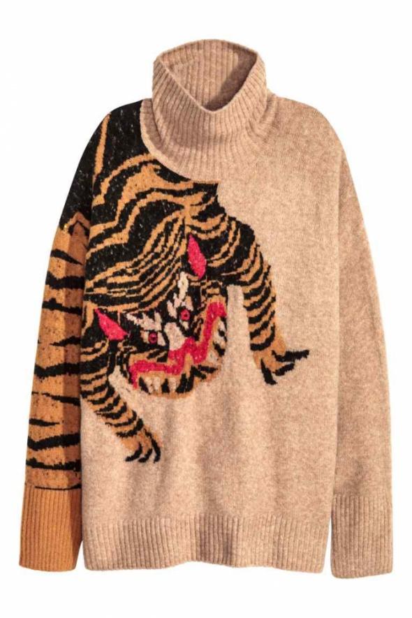 sweter z golfem H&M...