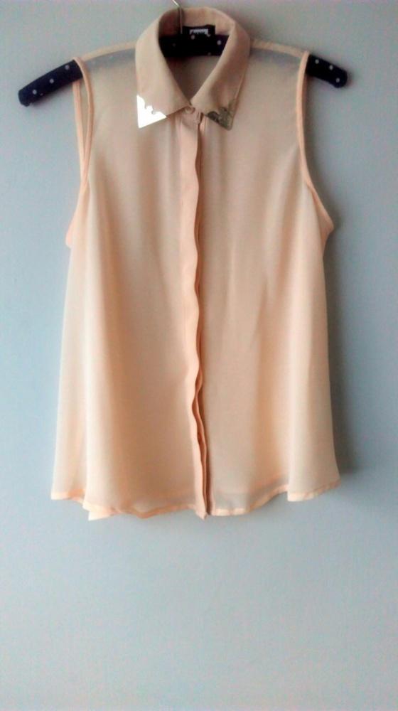 Koszule transparentna mgiełka nude 34