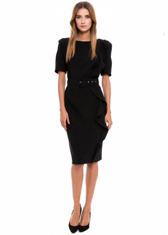 Do pracy SIMPLE czarna sukienka