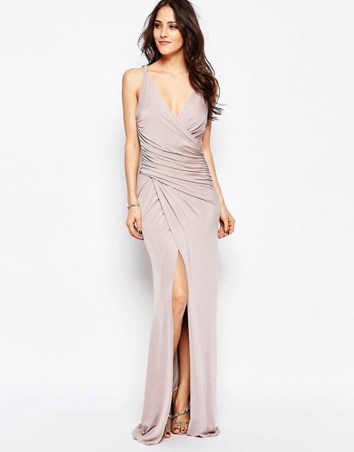 Liliowa suknia