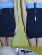 Sukienka mini granatowo niebieska S na lato