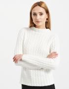 Błękitny sweter o grubym splocie Reserved
